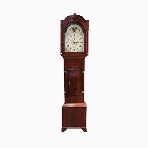 Reloj de pie antiguo de caoba
