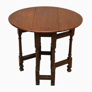Small Antique Oak Gate-Leg Side Table