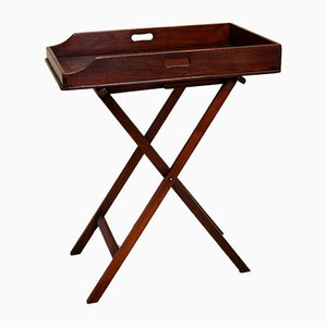 Butler Tabletttisch aus Mahagoni, spätes 19. Jh.