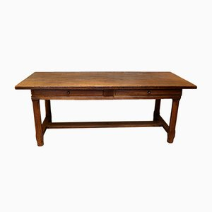 Antique French Oak Side Table