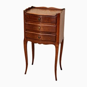 Antique French Oak Nightstand