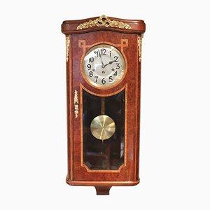 Reloj de pared alemán de madera nudosa de arce de Junghans, años 20