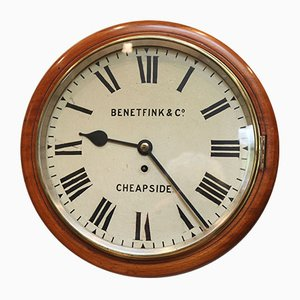 Reloj antiguo de caoba