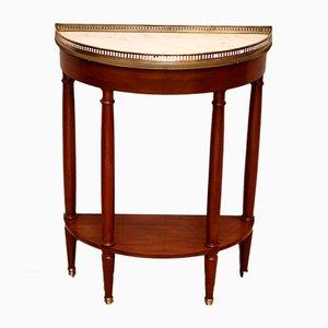 Mid-Century French Mahogany Demi-Lune Table, 1950s