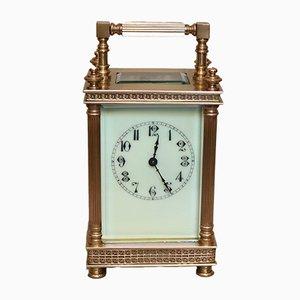 Reloj francés eduardiano antiguo de latón