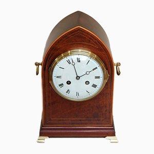 Reloj antiguo de vidrio y caoba de Vincenti