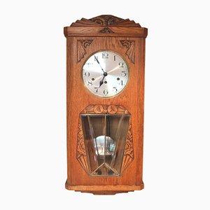 Reloj alemán vintage de roble, años 20
