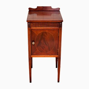 French Mahogany Bedside Cabinet, 1920s