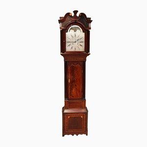 Reloj de caja alta antiguo grande de caoba