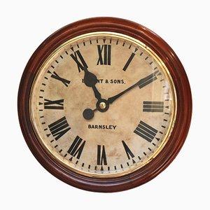 Reloj de pared industrial antiguo grande de fábrica