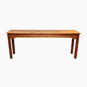 Antique Long Oak School Table from The North of England School Furnishing Co Darlington