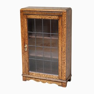 Small Oak Glazed Bookcase, 1920s