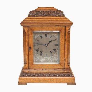 Reloj de pie eduardiano antiguo pequeño de roble de Samuel Marti