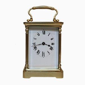 Reloj francés antiguo de vidrio de Duverdry & Bloquel