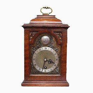 Reloj vintage en miniatura de caoba, años 20