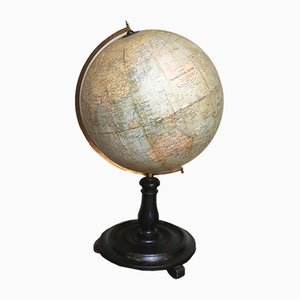Vintage 12-Inch Terrestrial Globe from Philips of London, 1930s