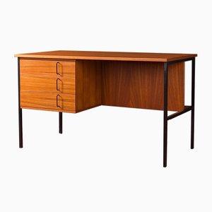 Deutscher Mid-Century Schreibtisch aus Stahl & Teak, 1960er