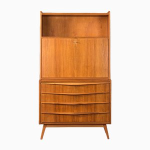 Mid-Century German Walnut Cabinet, 1950s