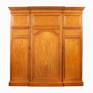 Antique Satinwood Breakfront Wardrobe