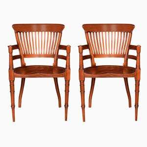 Antique Rococo Revival Armchairs by Edward William Godwin for James Peddle, Set of 2