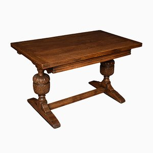 Antique Oak Draw Leaf Refectory Table