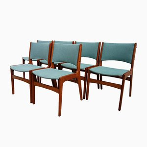 Danish Teak Dining Chairs by Henning Kjaernulf, 1960s, Set of 6
