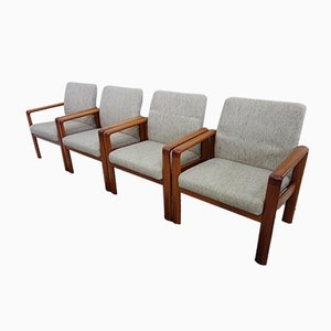 Danish Teak Easy Chairs from Schou Andersen, 1960s, Set of 4