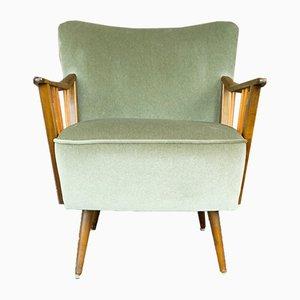 Sillón Club escandinavo moderno de tela, años 50