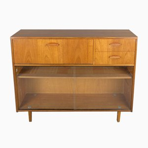 Glass and Teak Secretaire Bookcase from Avalon, 1960s