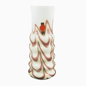 Italian Glass Vase by Carlo Moretti for Opaline Florence, 1970s