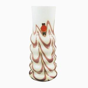 Vase en Verre par Carlo Moretti pour Opaline Florence, Italie, 1970s