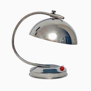 Lampe de Bureau en Plaqué Nickel par Apolinary Gałecki pour Stołeczne Zakłady Metalowe, 1950s
