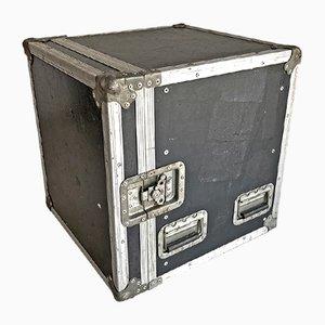 Industrieller Koffer aus Aluminium & Holz, 1980er