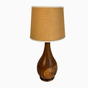Mid-Century Oak Table Lamp, 1960s