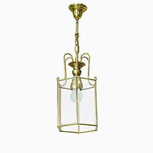 Italienische Mid-Century Deckenlampe aus vergoldetem Messing, 1960er