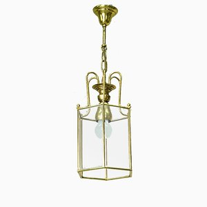 Mid-Century Italian Golden Ceiling Lamp, 1960s