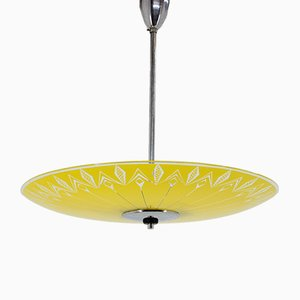 Glass Ceiling Lamp from Zukov, 1960s