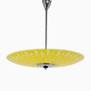 Lámpara de techo de vidrio de Zukov, años 60