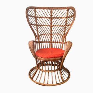 Wicker Lounge Chair by Lio Carminati for Casa e Giardino, 1960s
