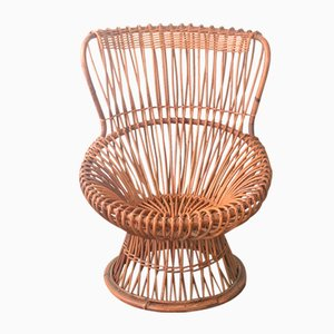 Margherita Wicker Chair by Franco Albini for Pierantonio Bonacina, 1950s
