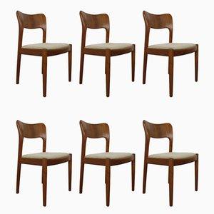 Dänische Esszimmerstühle aus Teak von Niels Koefoed für Koefoeds Hornslet, 1960er, 6er Set