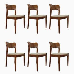 Danish Teak Dining Chairs by Niels Koefoed for Koefoeds Hornslet, 1960s, Set of 6
