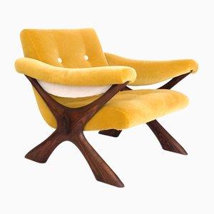 Moderne skandinavische Sessel mit Gestell aus Kiefernholz von Fredrik Schriever-Abeln, 1960er, 2er Set