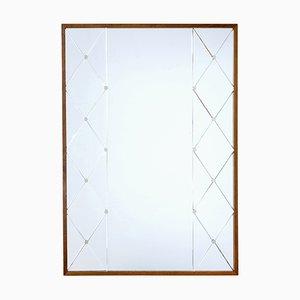 Miroir Style Art Déco de Glas & Trä, 1950s