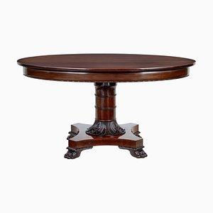Table Ovale en Acajou, Danemark, 19ème Siècle