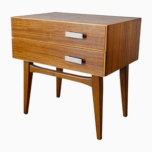 Small Vintage Walnut Veneer Chest of Drawers, 1960s