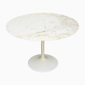 Mesa de comedor Tulip vintage de mármol de Eero Saarinen para Knoll International