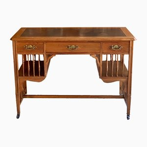 Vintage Arts & Crafts Walnut Desk, 1920s