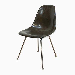 Sedia DSS-H vintage in fibra di vetro marrone di Charles & Ray Eames per Vitra