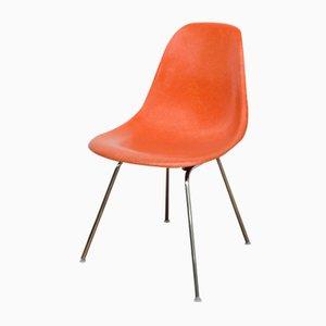 Sedia DSS-H vintage in fibra di vetro arancione di Charles & Ray Eames per Vitra
